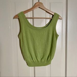 ST JOHN COLLECTION Knit Tank Lime Green